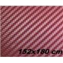 Carbon folie 3D 152x180 cm vínová