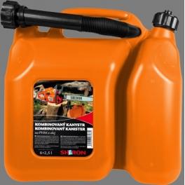 SHERON kombinovaný kanystr 6 + 2,5 lt oranžový