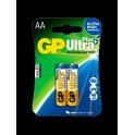 GP baterie Ultra Plus alkaline LR6 AA 2 ks - blistr