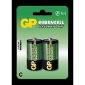 GP baterie Greencell malé mono R14 C 2 ks - blistr