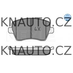 Přední brzdové destičky MEYLE Nissan Dacia Renault - 8660004726