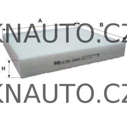 Kabinový filtr, vzduch v interiéru Škoda Fabia, Audi A1, Seat, VW - 6Q0820367