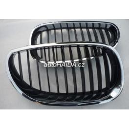Pøední maska, chrom/èerné møížky, ledvinky BMW 5 E60 / E61