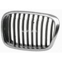 Møížka maska BMW 5 E39 Facelift - chrom/chrom/èerná levá