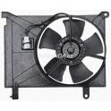 Ventilátor s krytem Daewoo Lanos 1,4 / 1,5 / 1,6 s klimatizací