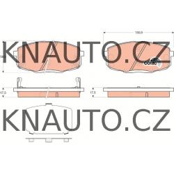 Přední brzdové destičky HART Hyundai I30, Kia Ceed