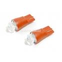 Žárovka 1SUPER LED 12V T10 èervená 2ks