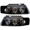 Hlavní černé tuning reflektory VW Passat 96-00