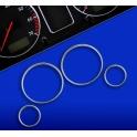 Kroužky tachometru chrom BMW E39