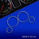 Kroužky tachometru chrom BMW 5 E34