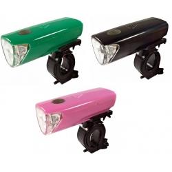 Osvětlení přední 4RACE LF01 3 D - černé/zelené/růžové