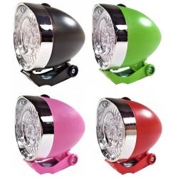 Osvětlení přední 4RACE LF02 3 LED bateriové černé/zelené/růžové/červené