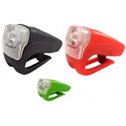 Osvětlení přední 4RACE LF04 3+0,5W LED černé/červené/zelené