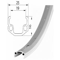 Ráfek REMERX RMX 219 622x19 36děr stříbrný