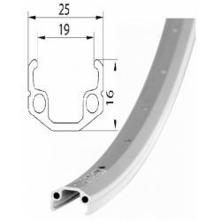 Ráfek REMERX RMX 219 559x19 36děr stříbrný
