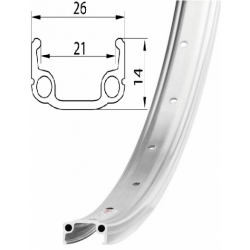 Ráfek REMERX RMX 21 507x21 36děr stříbrný