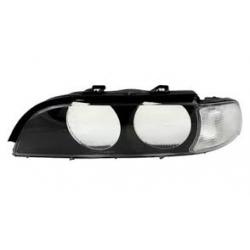 Sklo reflektoru TYC (bílá směrovka) BMW 5 E39 - levé
