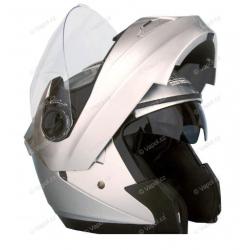 Přilba výklopná DP999 - XXL - silver HLS