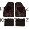 Koberce textillní NET 4ks červené